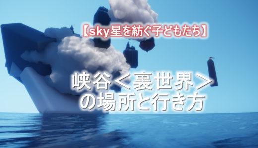 【sky星を紡ぐ子どもたち】峡谷<裏世界>の場所と行き方<最新>
